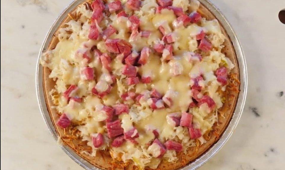 Frank's Kraut Reuben Pizza