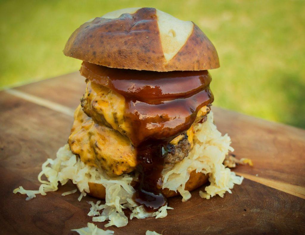Barbecue Kraut Burger