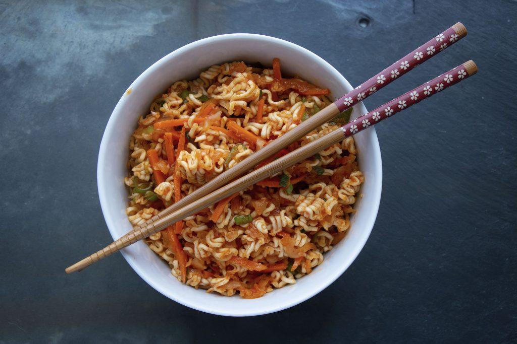 Kimchi-Ramen Salad