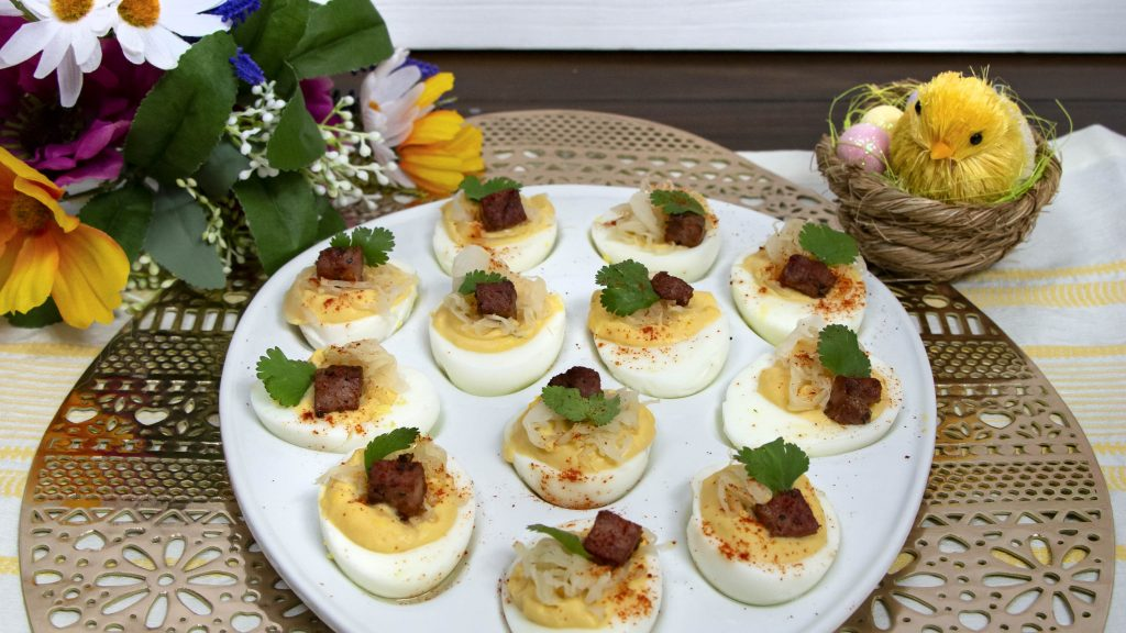 Reuben Deviled Eggs