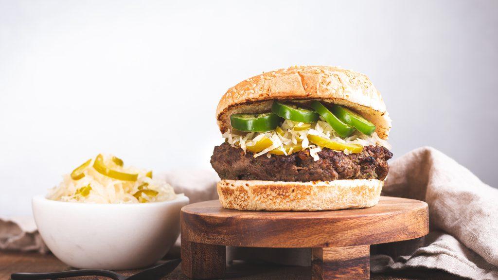 Frank's Jalapeno Burger